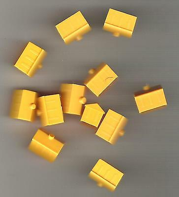 Monopoly Game Pieces - replacement yellow hotels (12)  - plastic
