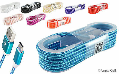 Braided Rope USB 3.1 Type-C Data Sync Charger Charging Cable Cord For Phones