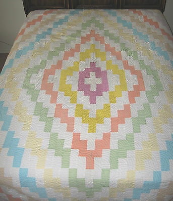 Lovely Hand Made Mennonite Quilt - Ontario 74 x 93