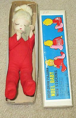 Vintage Christmas Pixie Noel Baby with Stocking 60's in Original Box Japan