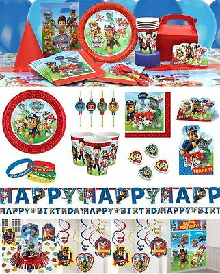Paw Patrol Boys Girls Party Birthday Supplies Tableware Decorations Parties Sets