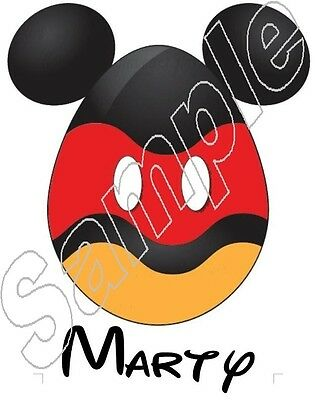3f701c407f6a2 Personalized Disney Mickey Ears Easter Egg Iron On T Shirt Transfer  6105