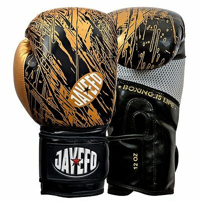 Jayefo Leather boxing gloves Gel MMA Muay thai Kick boxing sparring gloves