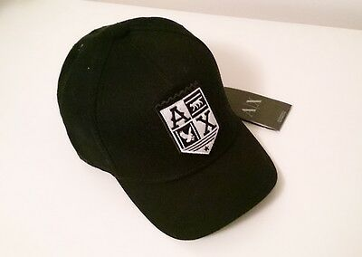 Armani Exchange A/x Mens Black & White Hat/cap - 100% Authentic - New With Tags