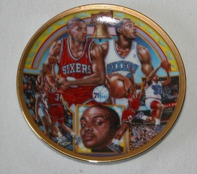 """VINTAGE CHARLES BARKLEY 76ers SPORTS IMPRESSIONS COLLECTOR PLATE MINI 4.5"""""""