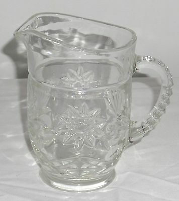 "Anchor Hocking EAPC *EARLY AMERICAN PRESCUT CRYSTAL *5 1/4"" 18oz PITCHER*"