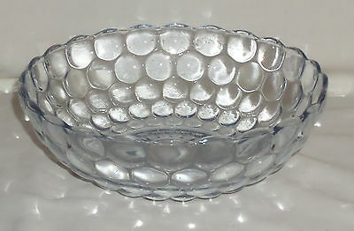 """Anchor Hocking BUBBLE BLUE *8 3/8"""" LARGE BERRY BOWL*"""