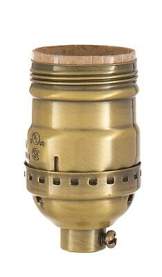 SHORT KEYLESS ~ UNO THREAD LIGHT SOCKET ~ SOLID BRASS ~ 4 Finishes ~  by PLD