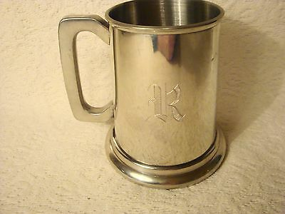 Viners Pewter Made In Sheffield England Mug Stein Cup Clear Bottom