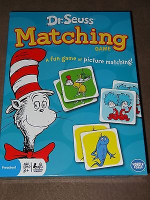 Dr. Seuss Cat In The Hat Matching Game-Contains 72 Picture Tiles-New In Package