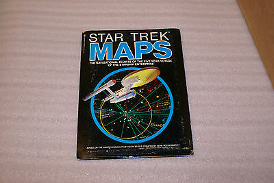 1980 Star Trek Set Two Double Sided Maps With Navigation Book