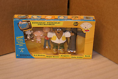 2005 Family Guy Bendable Poseable Bendy Figures SET Series 2 Death Evil Monkey