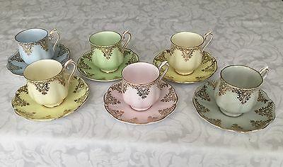 ROYAL ALBERT TEA SET, CUPS AND SAUCERS SET OF 6, Rarely Offered