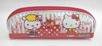 Sanrio Hello Kitty makeup/pencil bag/pouch-transparent/red