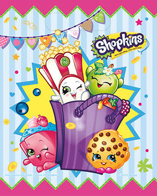 8PC  Shopkins Party Loot Treat Bags