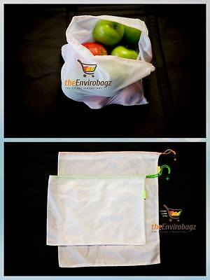 1 Set of 2 Reusable Produce- Bags grocery shopping fruits & vegetables  storage