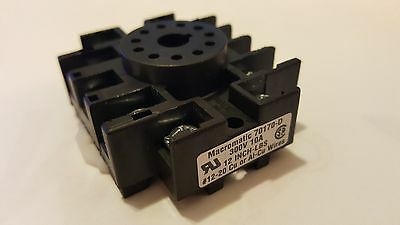 Macromatic 70170-D Socket,Relay;11;300V;10 A;Pressure Wire Clamp;DIN Rail