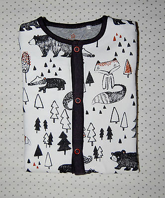 ♡ Next ♡NEW ☆ Baby Girl ☆Lovely Cosy ANIMALS Sleepsuit Babygrow ♡ 12-18 Months