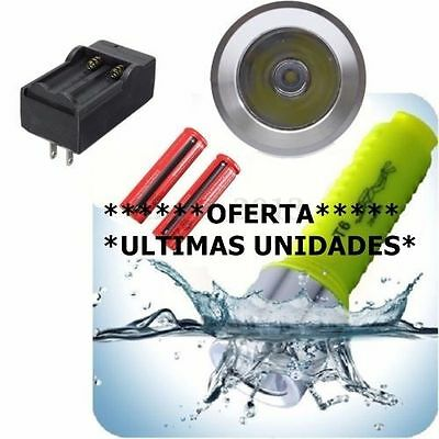 3500LM XML-2 T6 LED Linterna Submarinismo Buceo Pesca Flashlight Submarina