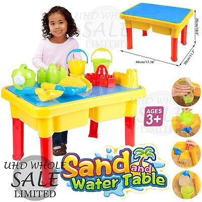 Kids 2In1 Sand And Water Table Beach W/ Lid Sandpit Activity Fun Play Toy Table