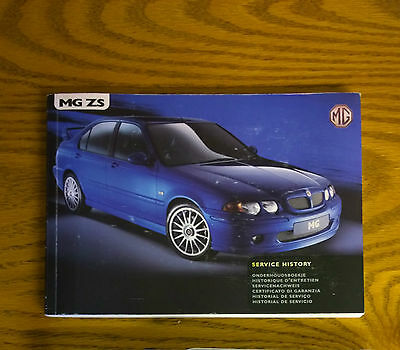 MGZS Owners Handbook - Service History 02   MG ZS