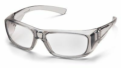 Pyramex Emerge RX Safety Reader Magnification Glasses w/ Grey Frame & Clear Lens