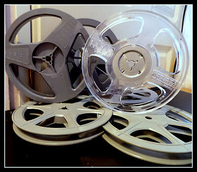 Standard 8mm Quality 200ft (60m) Film Spool / Reel With New Storage Box & Labels