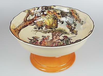 Royal Doulton  Footed Bowl  The Gleaners - Old English Scenes  D6123  C1930's