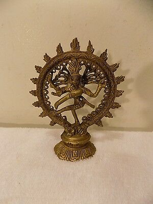 Antique Vintage Solid Brass Lord Shiva Hindu God Statue Figure
