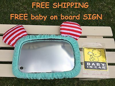Baby Infant Car Safety Seat Mirror Rear facing Extra Large Baby Shower Gift