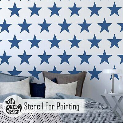 5-POINT STAR REPEAT Nursery Childs Room Furniture Wall Floor Stencil for Paint