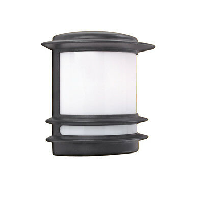 Searchlight 1812 Stroud Black IP44 Outdoor Post Light With Opal Diffuser