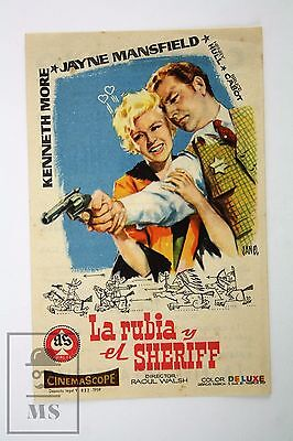 1953 Jayne Mansfield - The Sheriff of Fractured Jaw - Movie Advertising Leaflet