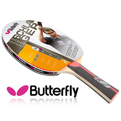 Butterfly Ping Pong Racket Tennis Pro Werner Schlager Platin Paddle Bat HQ