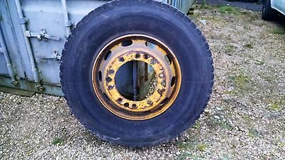 Pair of Rear Volvo Olympian Bus Wheels With Tyres
