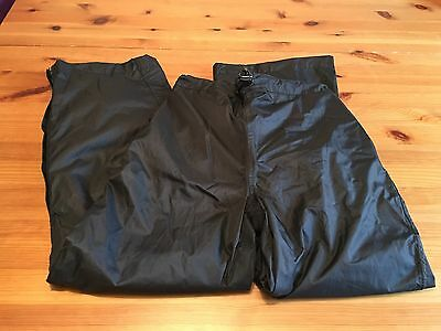 Mountain Life Kids Waterproof Overtrousers Black Age 9 Elasticated