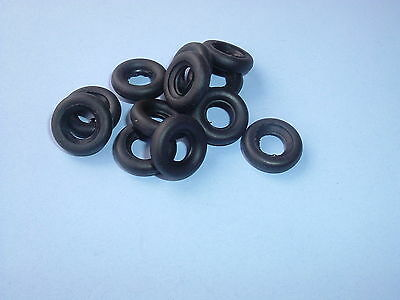 12 New Dinky 17Mm Black Smooth Replacement Tyres-Offer No.30