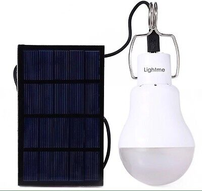 15W 130LM Solar Powered  LED Bulb Light Energy Lamp Build-in NI-MH Battery