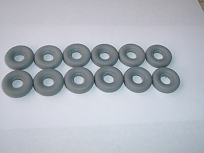 12 New Dinky 20Mm Grey Round Tread  Replacement Tyres-Offer No.4