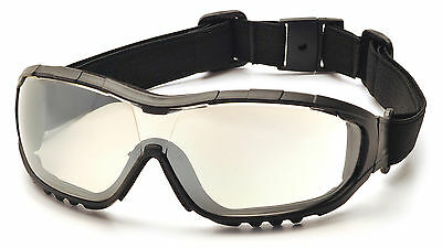 Pyramex V3G Safety Eyewear Glasses/Goggles, Foam Padding, Z87+ Protection