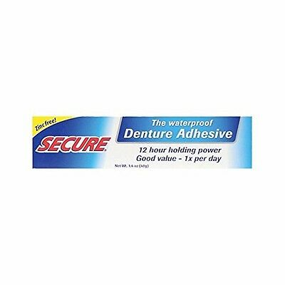 Secure Denture Adhesive - 1.4 Oz Brand NEW