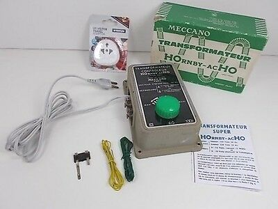 French Hornby acHO Transformer/Controller 220 volts/12volts (Boxed)