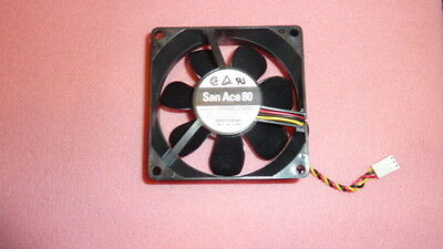 NEW SANYO 109R0812G4D01 DC Fan 80 x 25 x 80mm ,12VDC 0.37A Locked Rotor Sensor