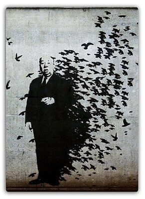 Hitchcock Birds Metal Wall Sign Plaque Art Inspirational Banksy Graffiti Street