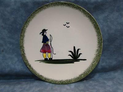 """Normandy by Knowles 6-1/4"""" Bread & Butter Plate Peasants Green Sponge Border b19"""