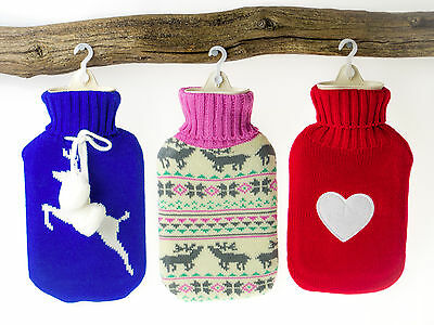Huggable Hot Water Bottle - Cute knitted roll neck style hotwater bottle & cover