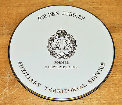 Vintage Goss 1988 ATS Auxillary Territorial Service Golden Jubilee Plate