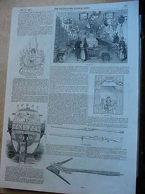 1848 London News-China-The Chinese Junk in the East India Docks
