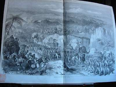 1848 London News-March of Troops in India-Krieg in Indien-War in India