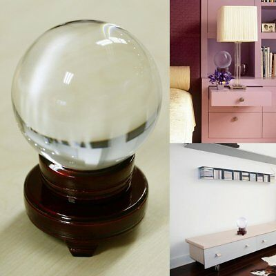 New Synthetic Clear Magic Crystal Round Ball Healing Sphere 100MM + Stand Gifts